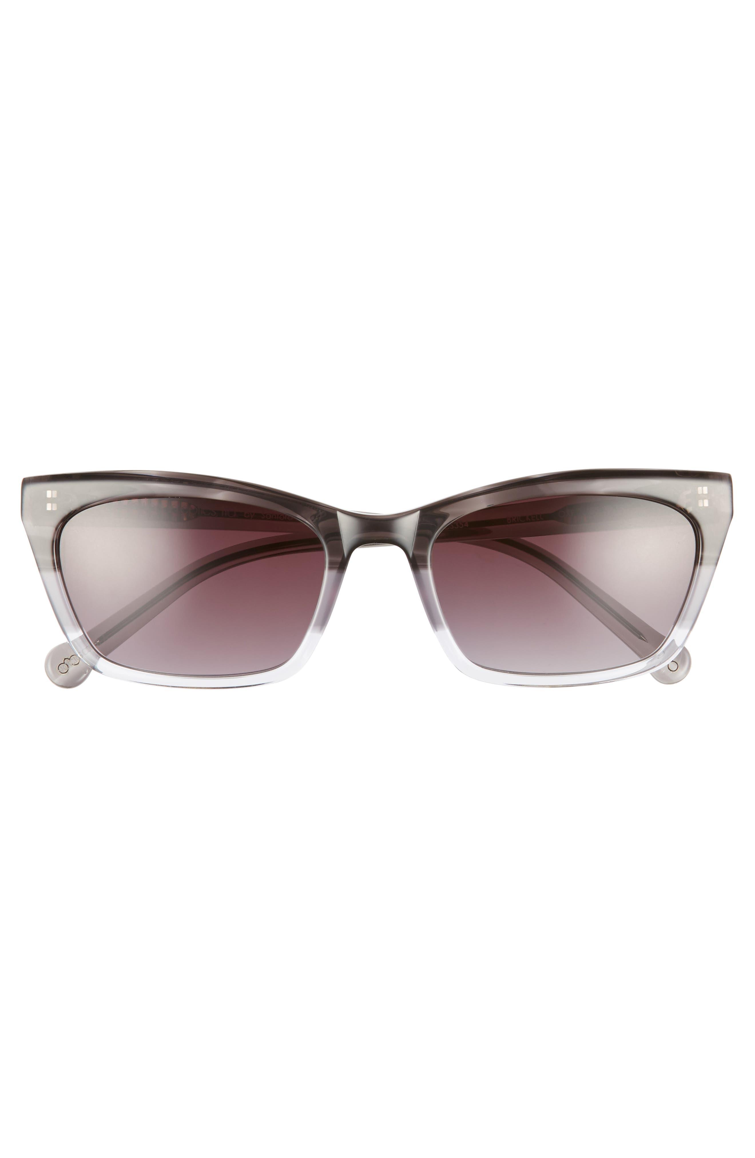 ,                             Brickell 55mm Gradient Cat Eye Sunglasses,                             Alternate thumbnail 3, color,                             BLACK FADE/ GREY