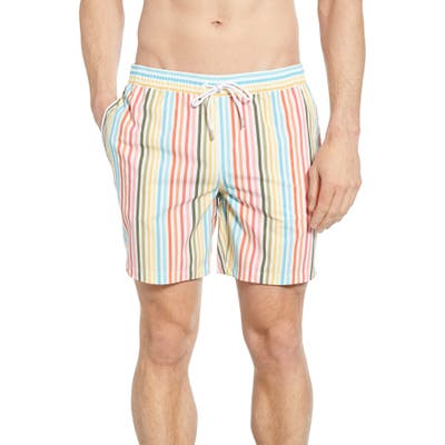 Bonobos E-Waist 7-Inch Swim Trunks, White