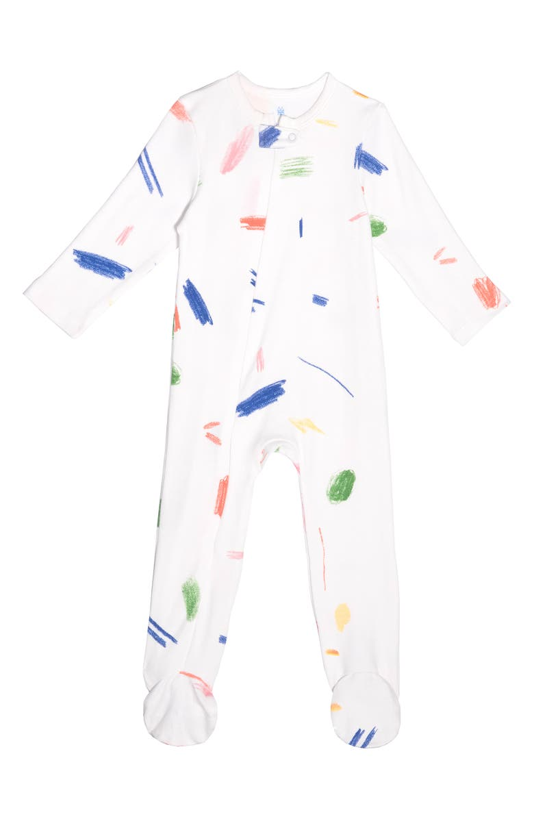 Doodle Collection Fitted One Piece Footie Pajamas by Maisonette