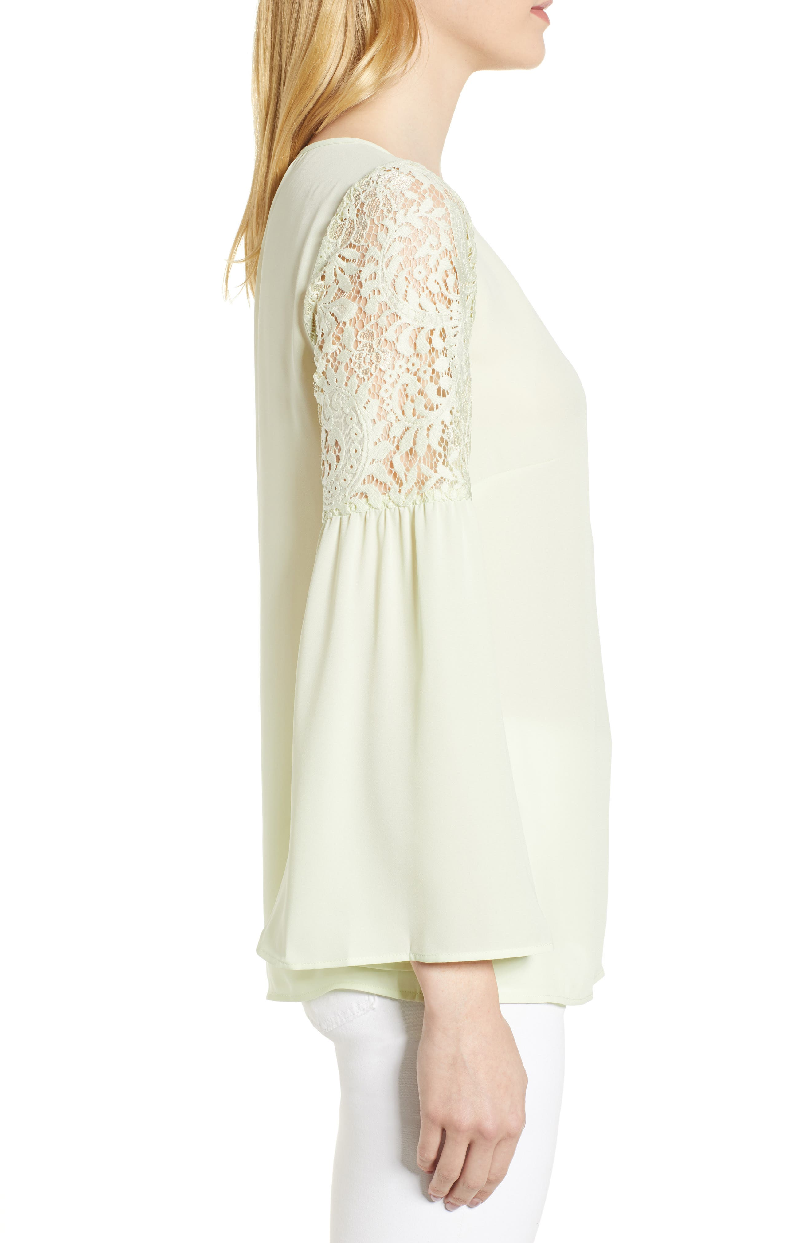 ,                             Lace Bell Sleeve Top,                             Alternate thumbnail 16, color,                             330