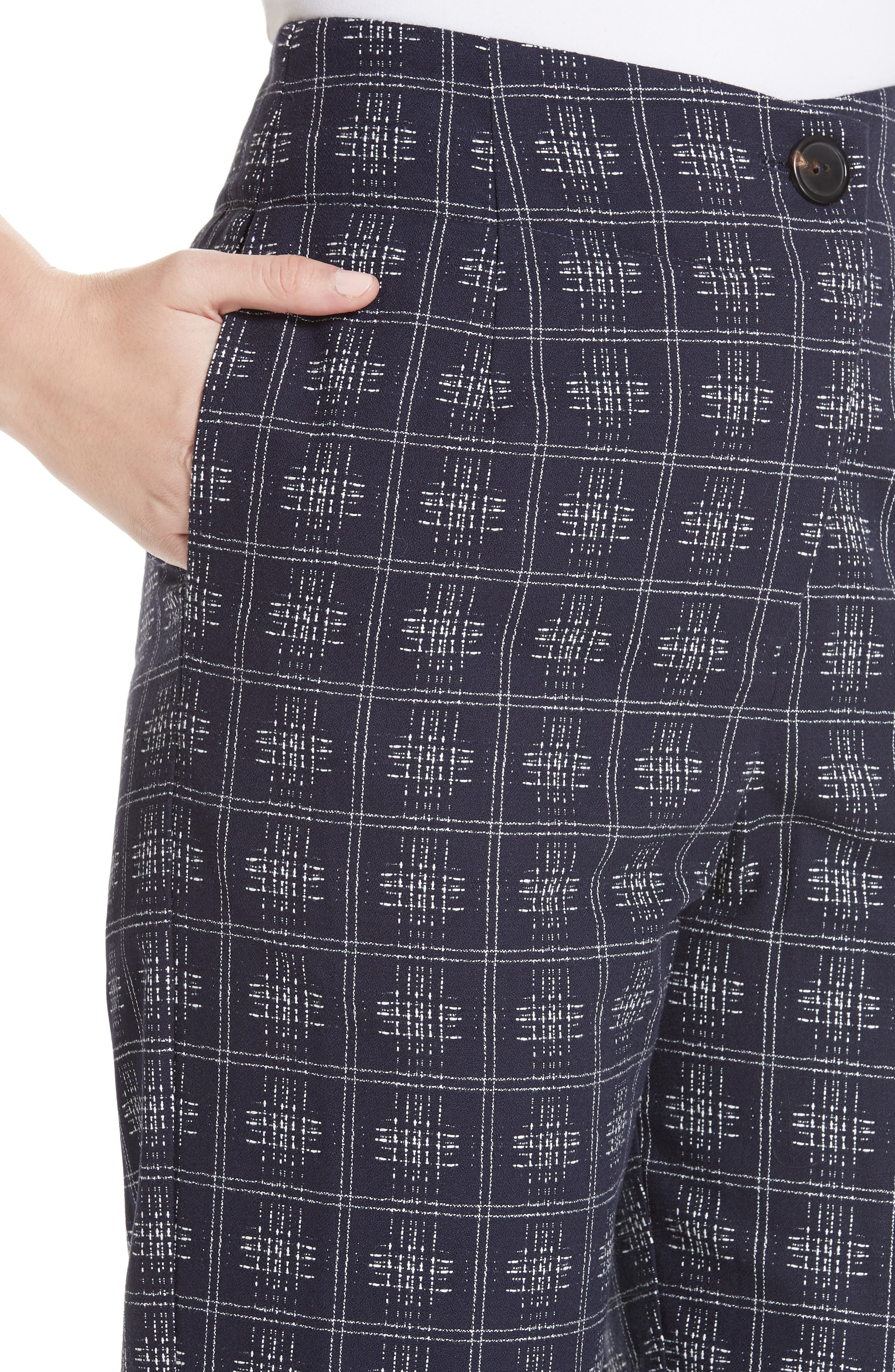 ,                             Fractured Trousers,                             Alternate thumbnail 4, color,                             NAVY CROSSHATCH CHECK