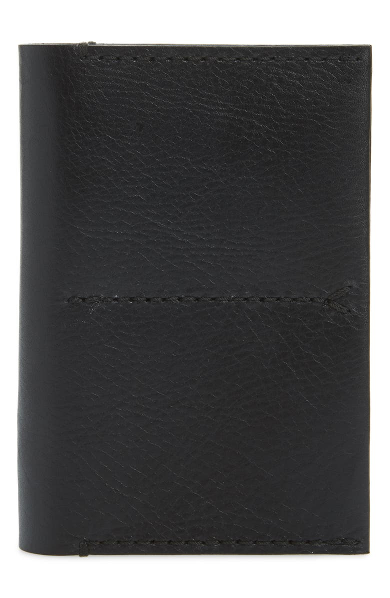 MADEWELL The Leather Passport Case, Main, color, TRUE BLACK
