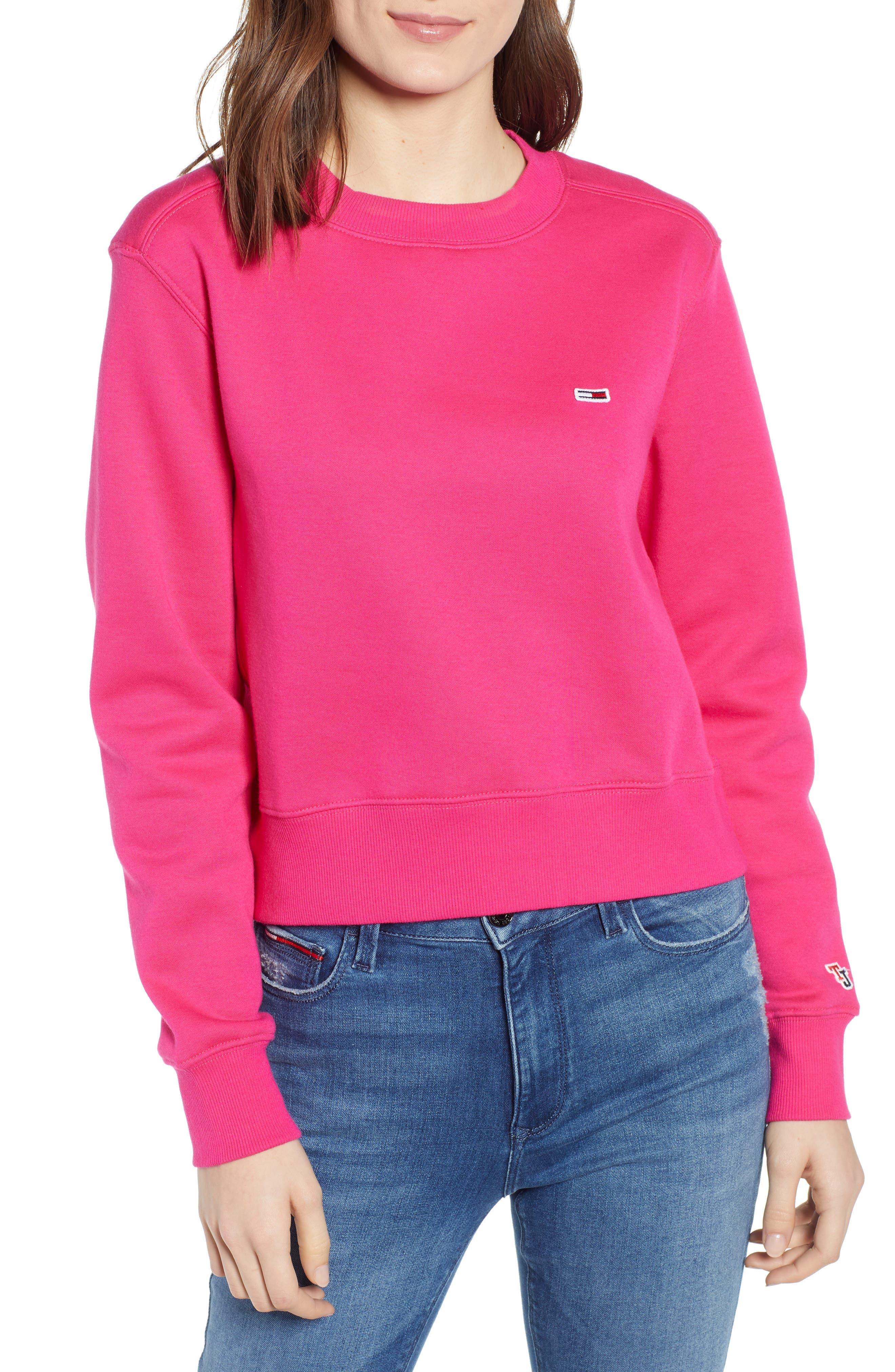 Image of TOMMY JEANS TJW Logo Cuff Sweatshirt