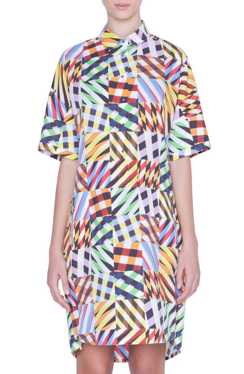AKRIS PUNTO Patchwork Print Tunic Dress, Main, color, PATCHWORK MULTI