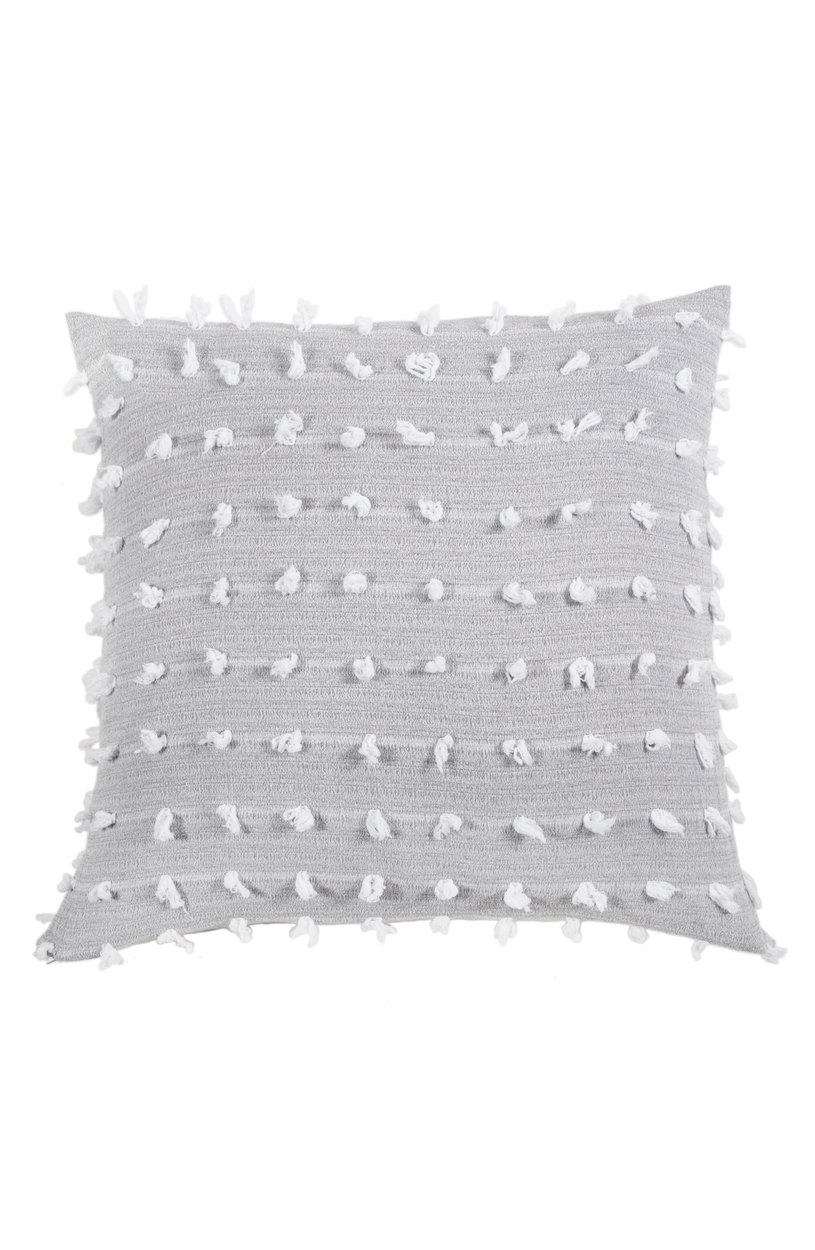 ,                             Poppy Accent Pillow,                             Main thumbnail 1, color,                             GREY