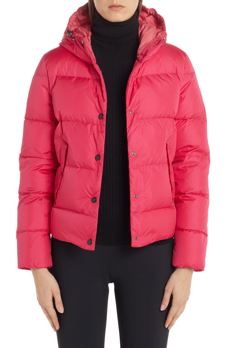 MONCLER Lena Hooded Down Puffer Jacket, Main, color, PINK