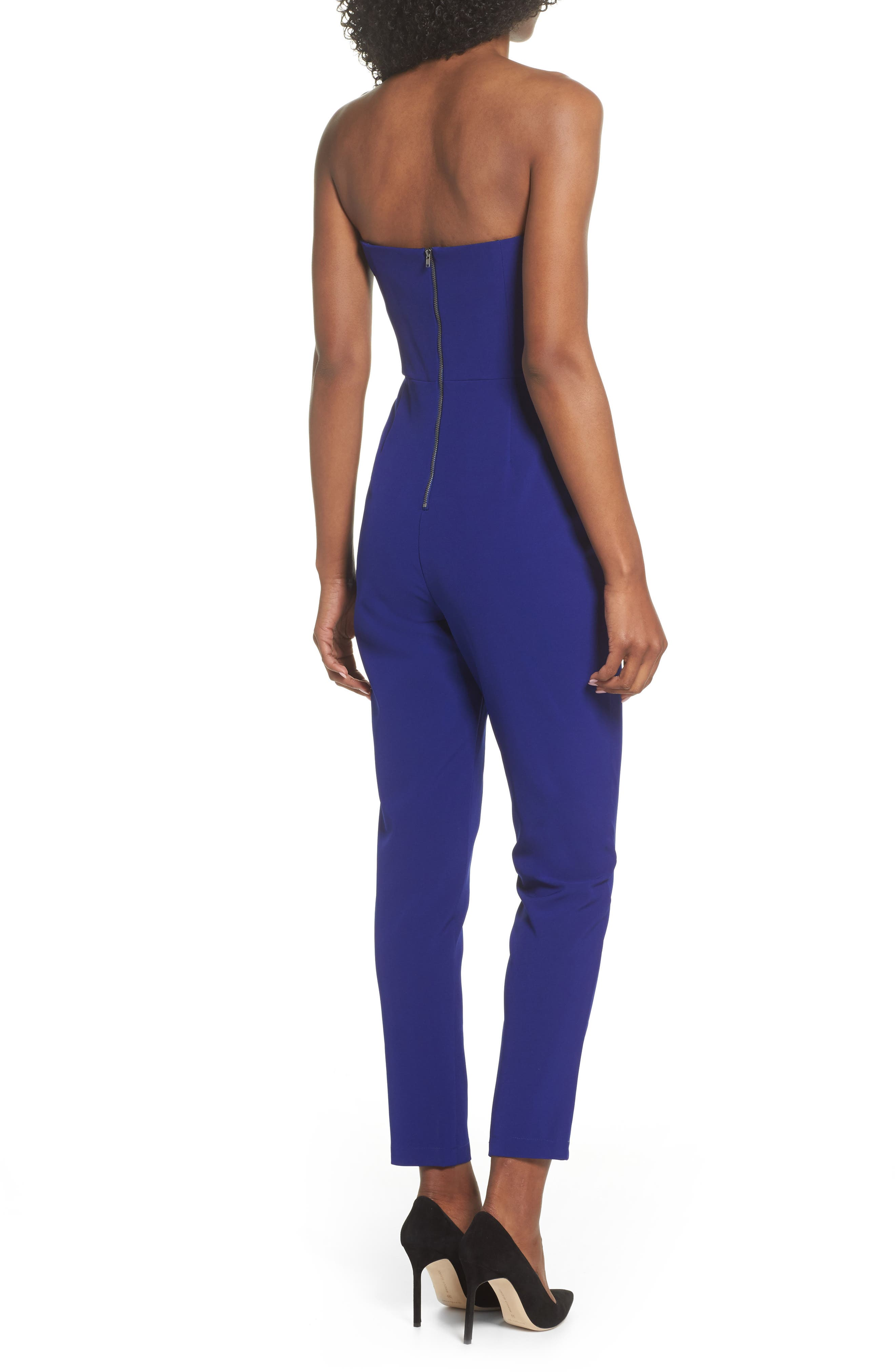 ,                             Strapless Slim Leg Jumpsuit,                             Alternate thumbnail 10, color,                             401
