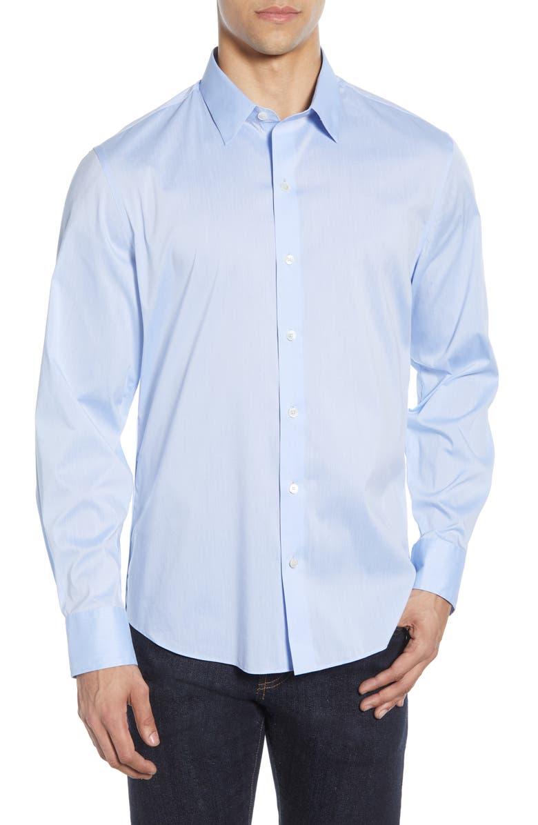 ZACHARY PRELL Mulberry Regular Fit Shirt, Main, color, LIGHT BLUE