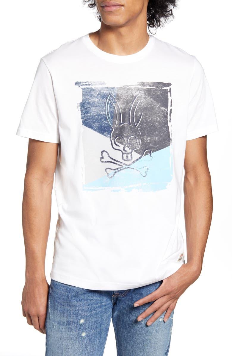 PSYCHO BUNNY Logo T-Shirt, Main, color, 100 WHITE