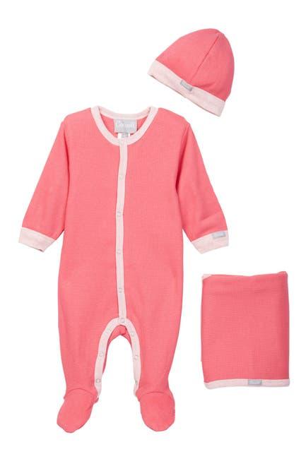 Image of Coccoli Puffin Island Footie Bodysuit, Cap & Blanket Set