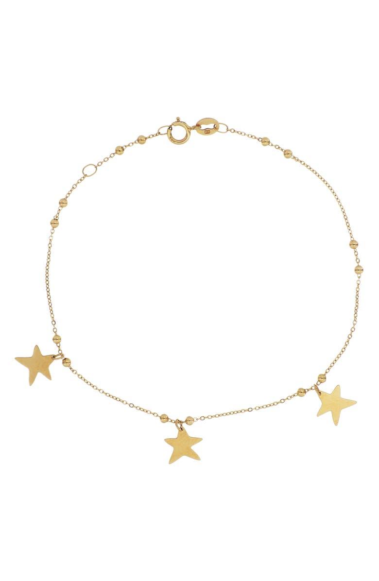 BONY LEVY 14K Gold Star Charm Bracelet, Main, color, YELLOW GOLD