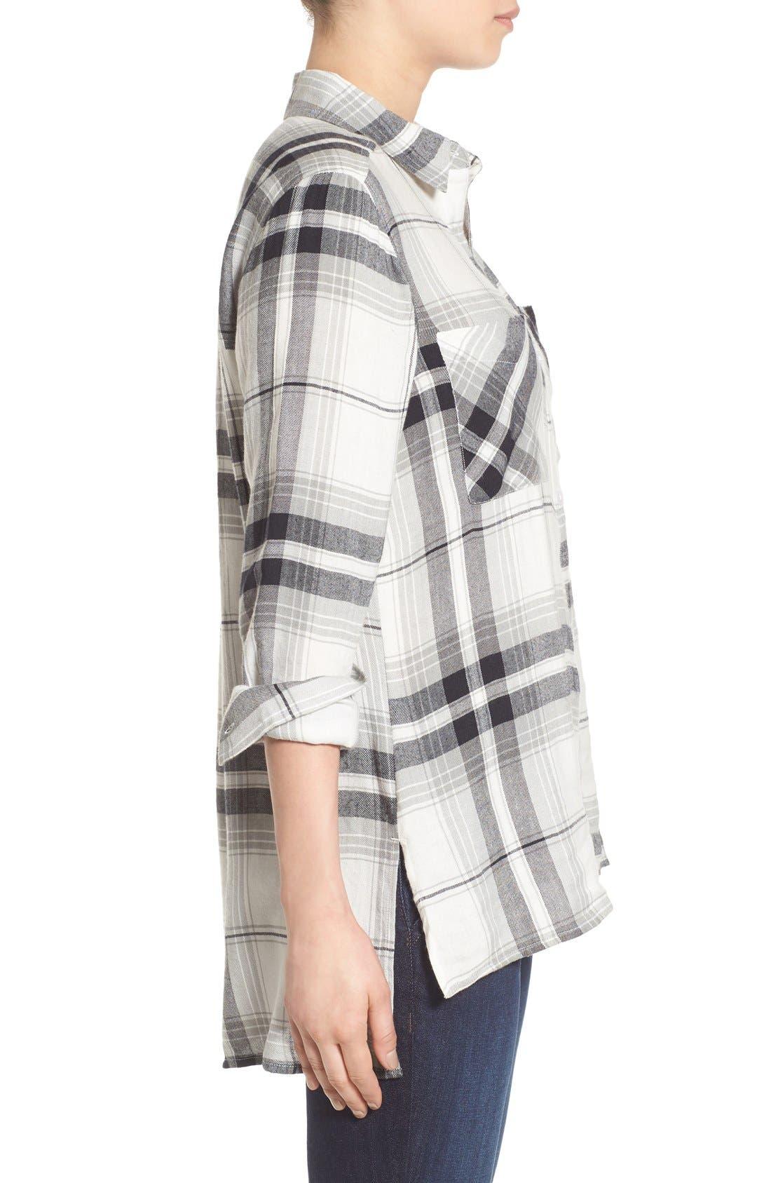 ,                             Plaid Tunic Shirt,                             Alternate thumbnail 40, color,                             900
