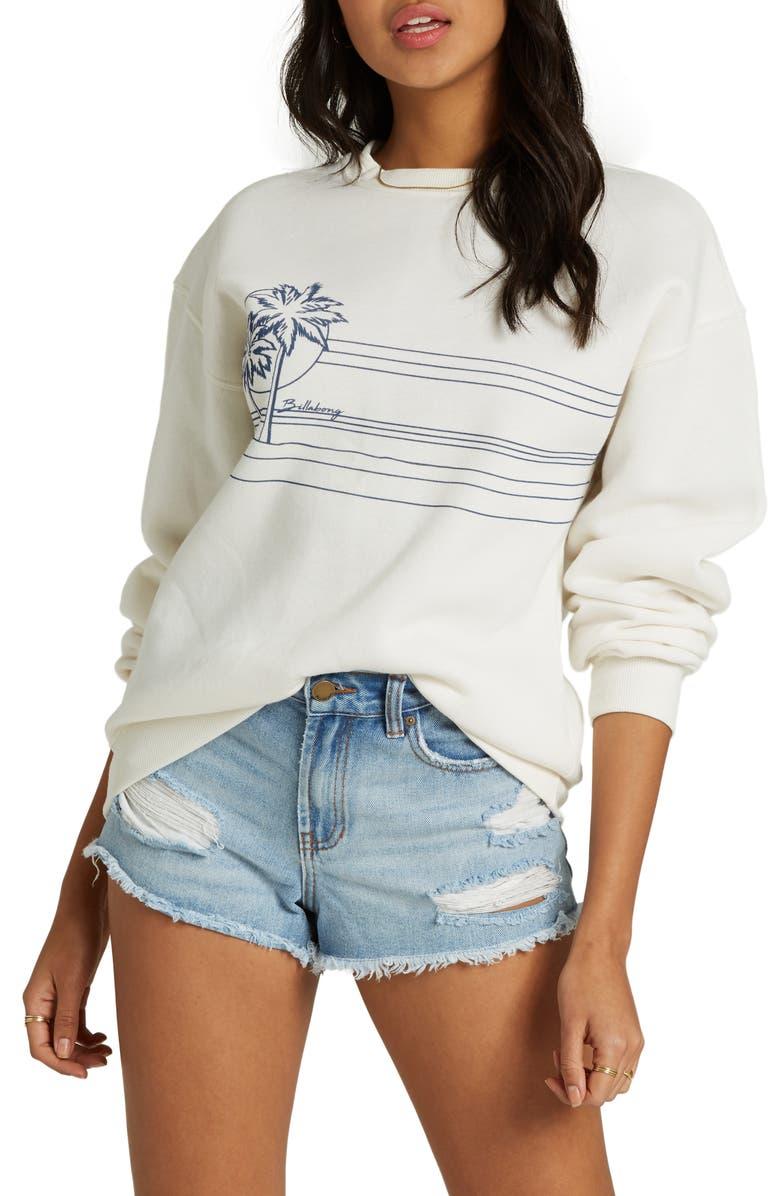 BILLABONG Best of Times Graphic Sweatshirt, Main, color, SALT