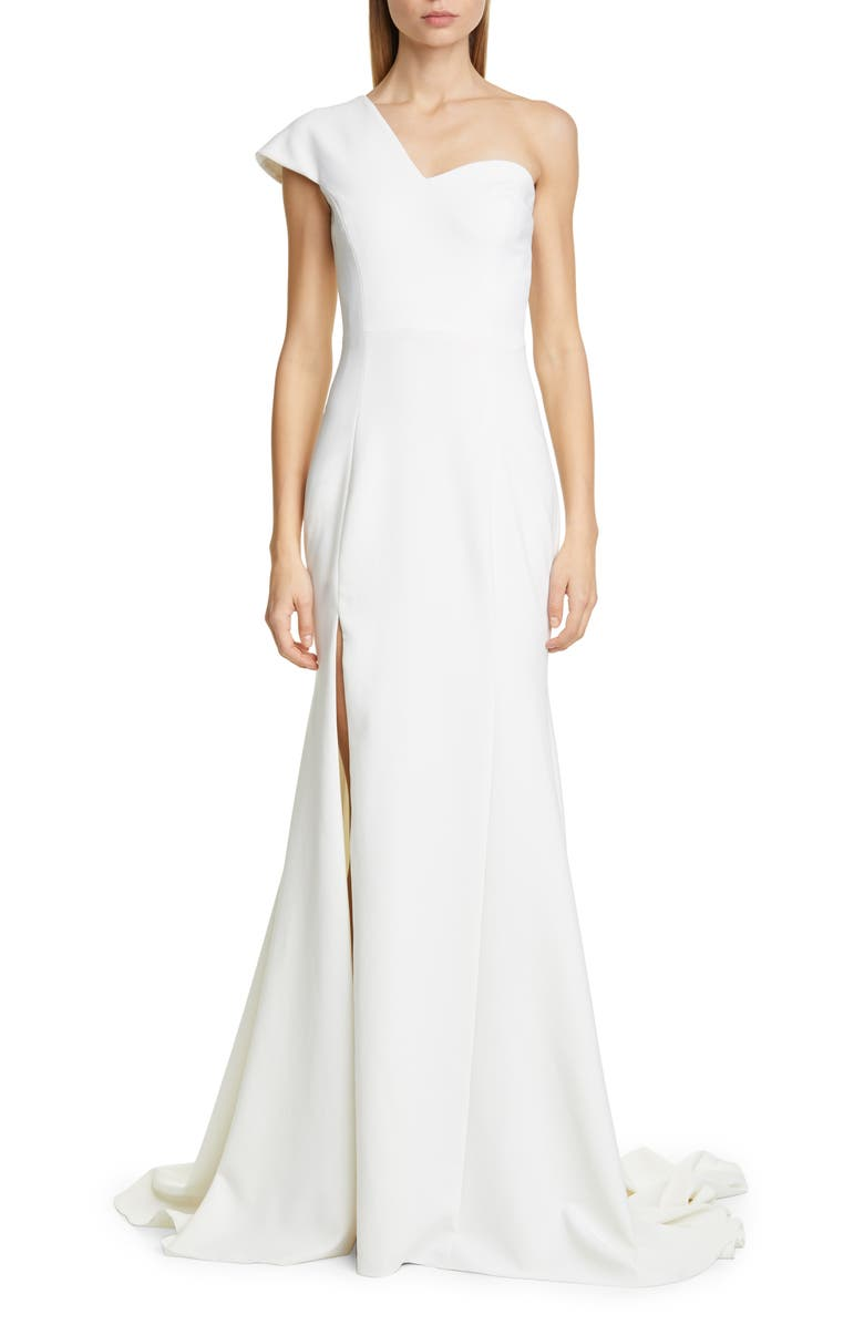 CHRISTIAN SIRIANO One-Shoulder Evening Gown, Main, color, IVORY