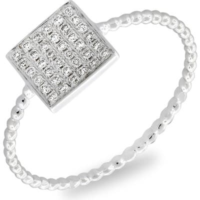 Bony Levy Aurora Diamond Pave Square Ring (Nordstrom Exclusive)