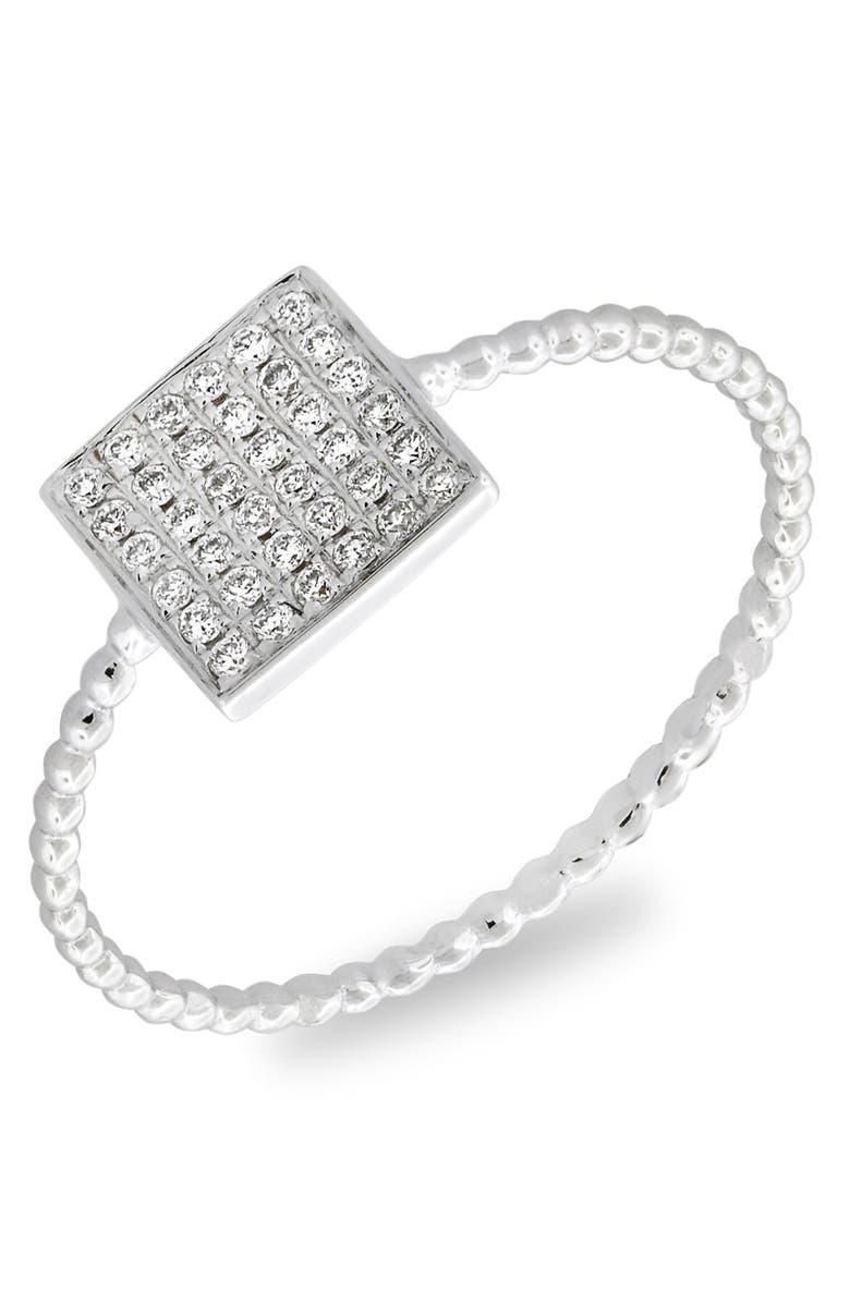 BONY LEVY Aurora Diamond Pavé Square Ring, Main, color, 711