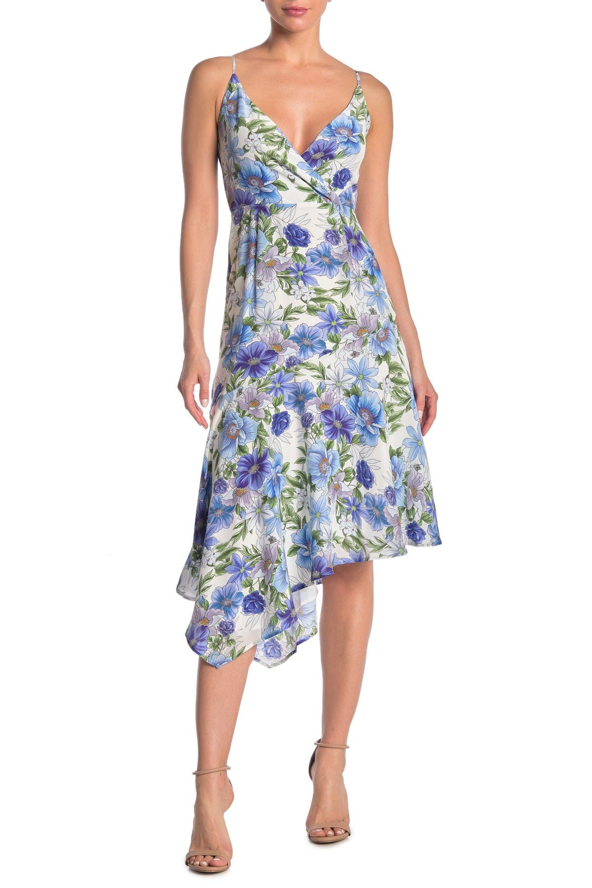 Image of Yumi Kim Havana Floral Asymmetrical Hem Dress