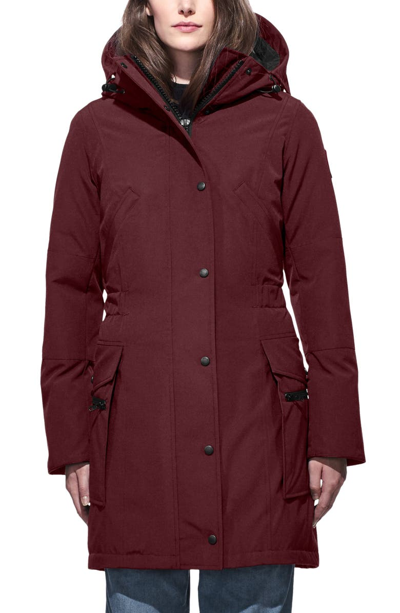CANADA GOOSE Kinley Insulated Parka, Main, color, ELDERBERRY