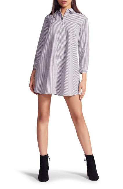 Image of BB Dakota Good News Stripe Shirt Dress