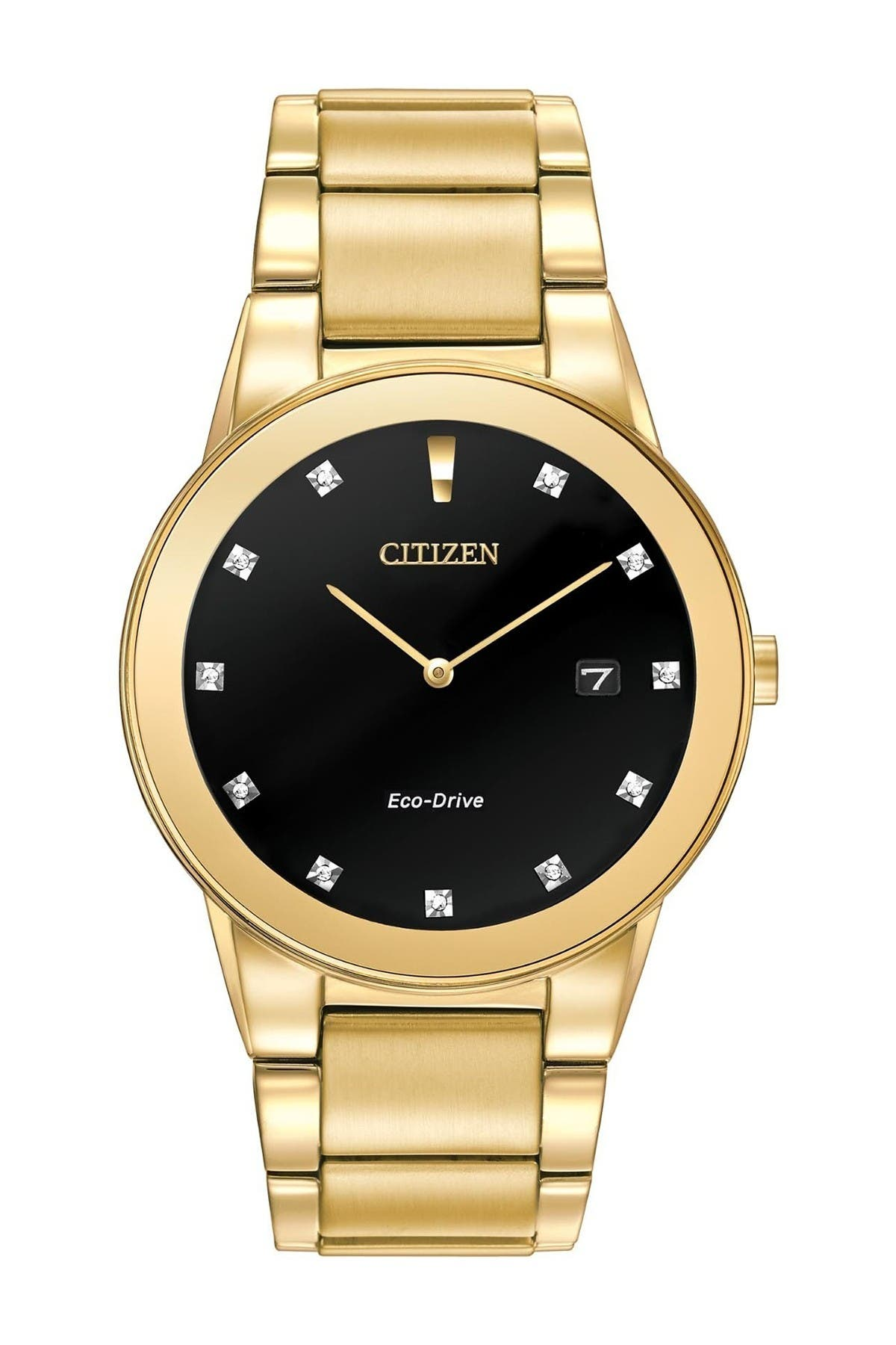 Image of Citizen Men's Axiom Eco Drive Bracelet Watch, 40mm - 0.12 ctw