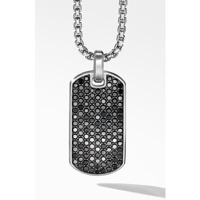 David Yurman Streamline Tag With Black Diamonds