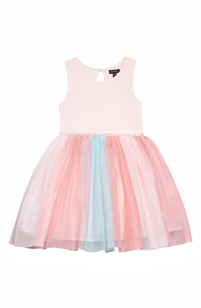 ZUNIE Sparkle Ponte Tutu Dress, Main, color, 650