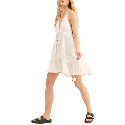 Endless Summer By Free People Signorina Halter Sundress, Ivory