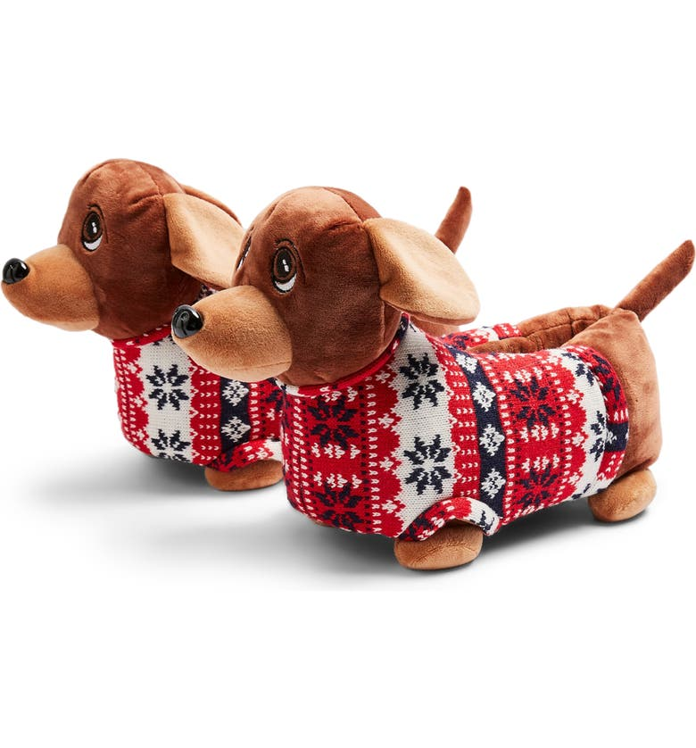 TOPSHOP Sausage Dog Slippers, Main, color, 200