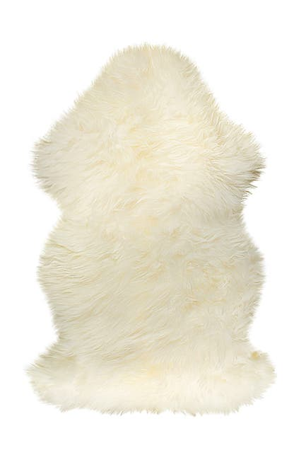 Image of Natural New Zealand Genuine Sheepskin Rug - 2ft x 3ft - Natural