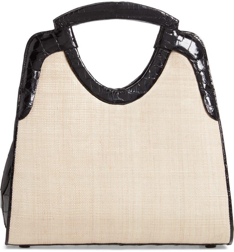 NANCY GONZALEZ Small Genuine Crocodile Top Handle Bag, Main, color, 001