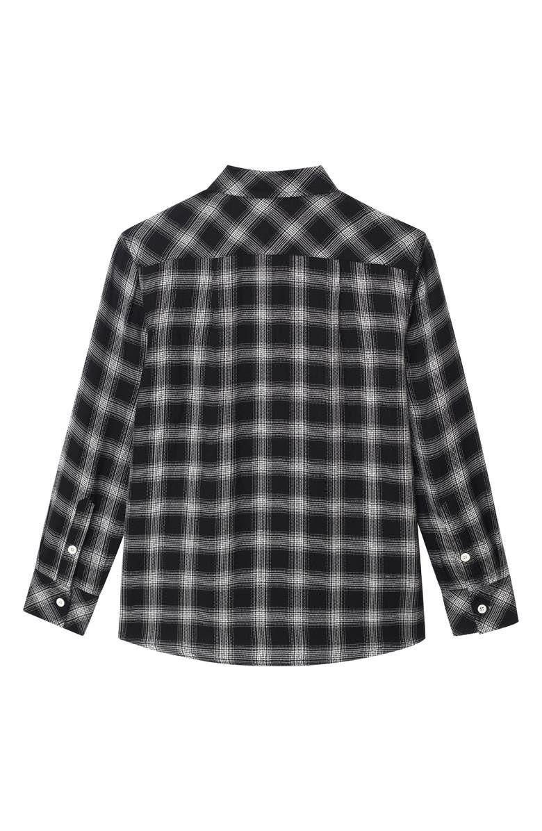 DL1961 Ash Plaid Woven Shirt, Main, color, BLACK PLAID
