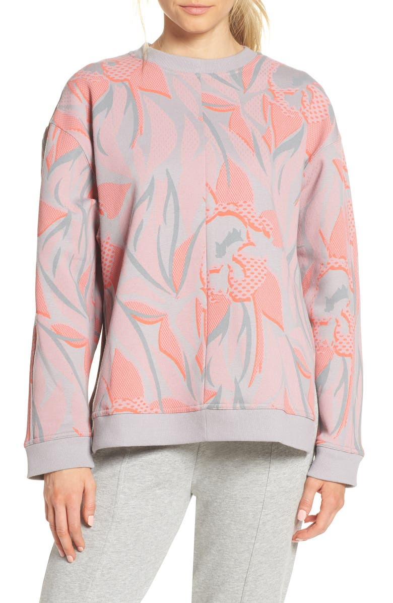 ADIDAS BY STELLA MCCARTNEY Floral Print Sweatshirt, Main, color, 020