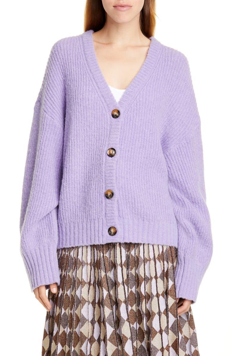 BAUM UND PFERDGARTEN Corsica Cardigan Sweater, Main, color, BOUGAINVILLA
