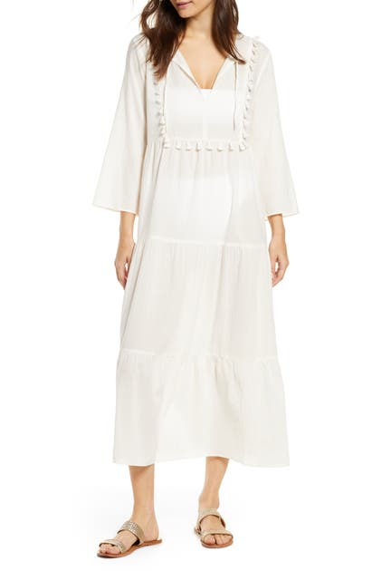 Madewell Dresses TIERED COVER-UP CAFTAN DRESS