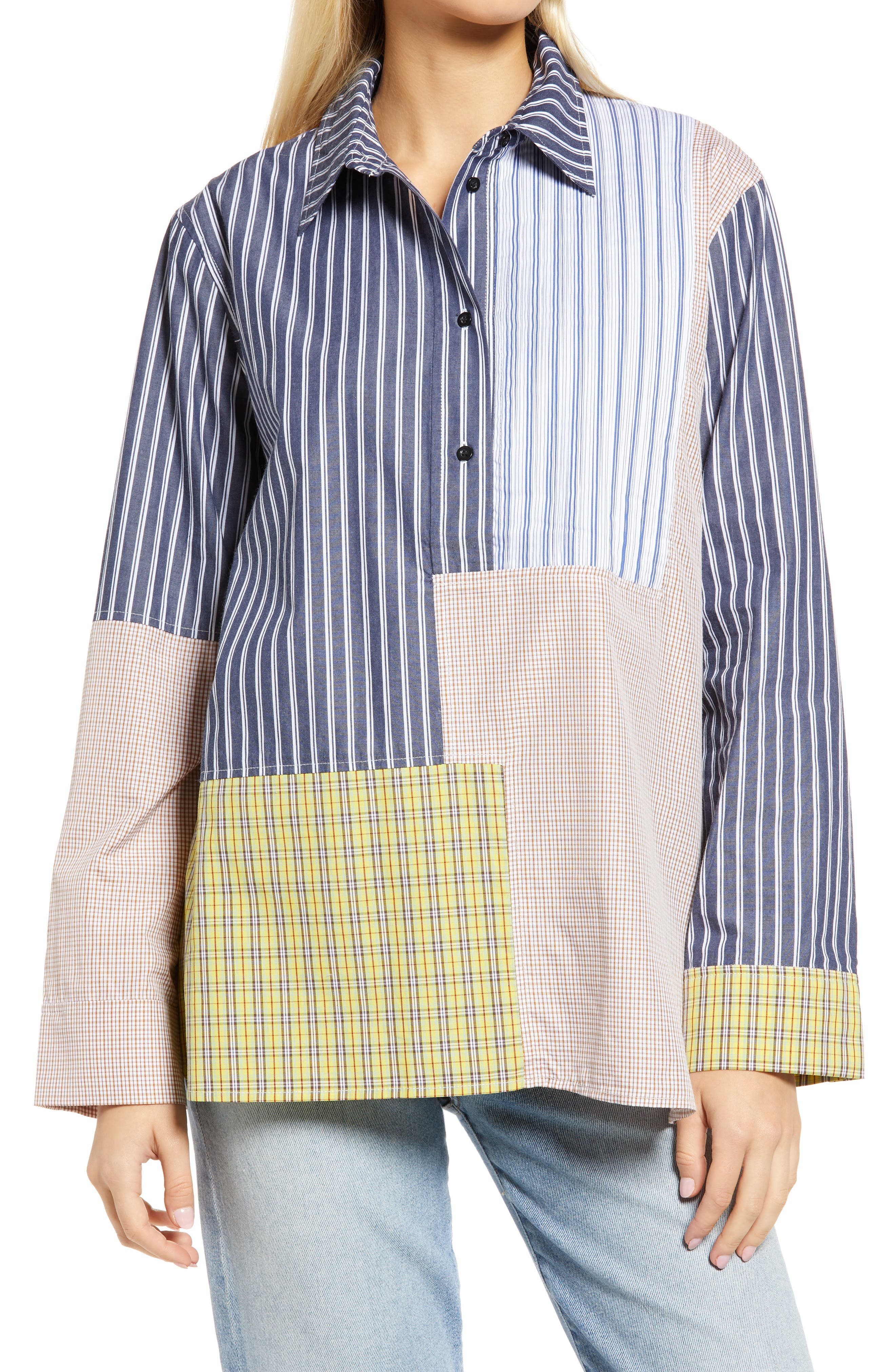 Randy Mix Print Long Sleeve Shirt