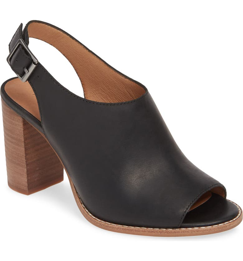 MADEWELL The Cary Sandal, Main, color, TRUE BLACK LEATHER
