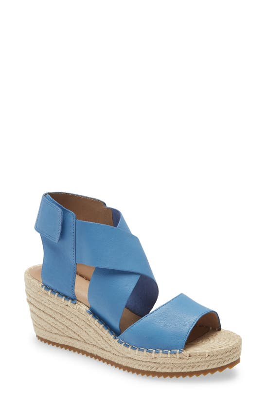 Eileen Fisher Leathers 'WILLOW' ESPADRILLE WEDGE SANDAL