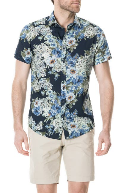 Image of RODD AND GUNN Riccarton Park Short Sleeve Hawaiian Shirt