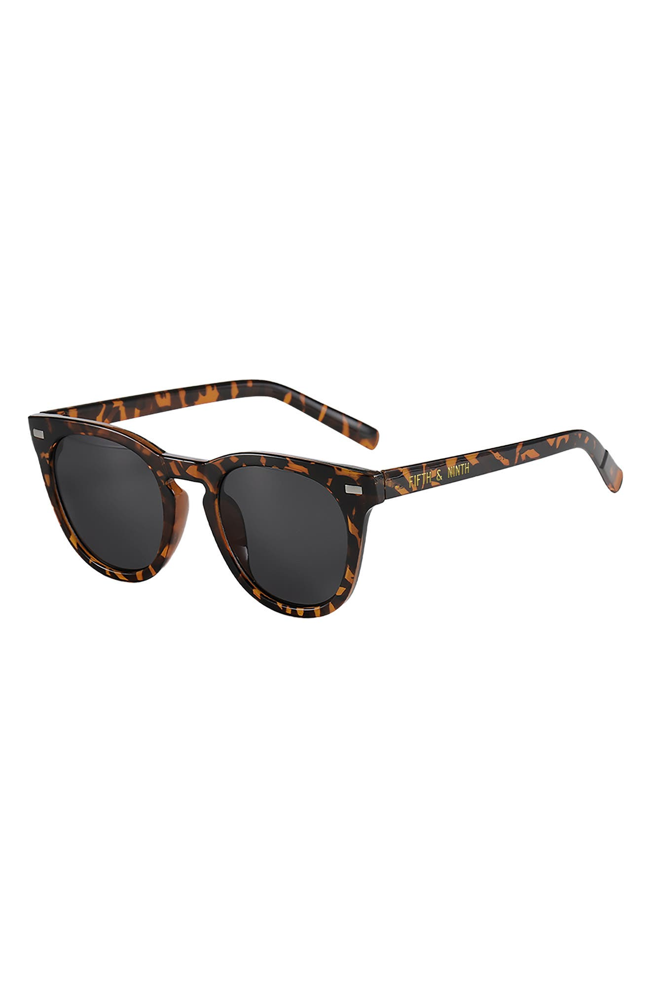 Raleigh 55mm Round Sunglasses