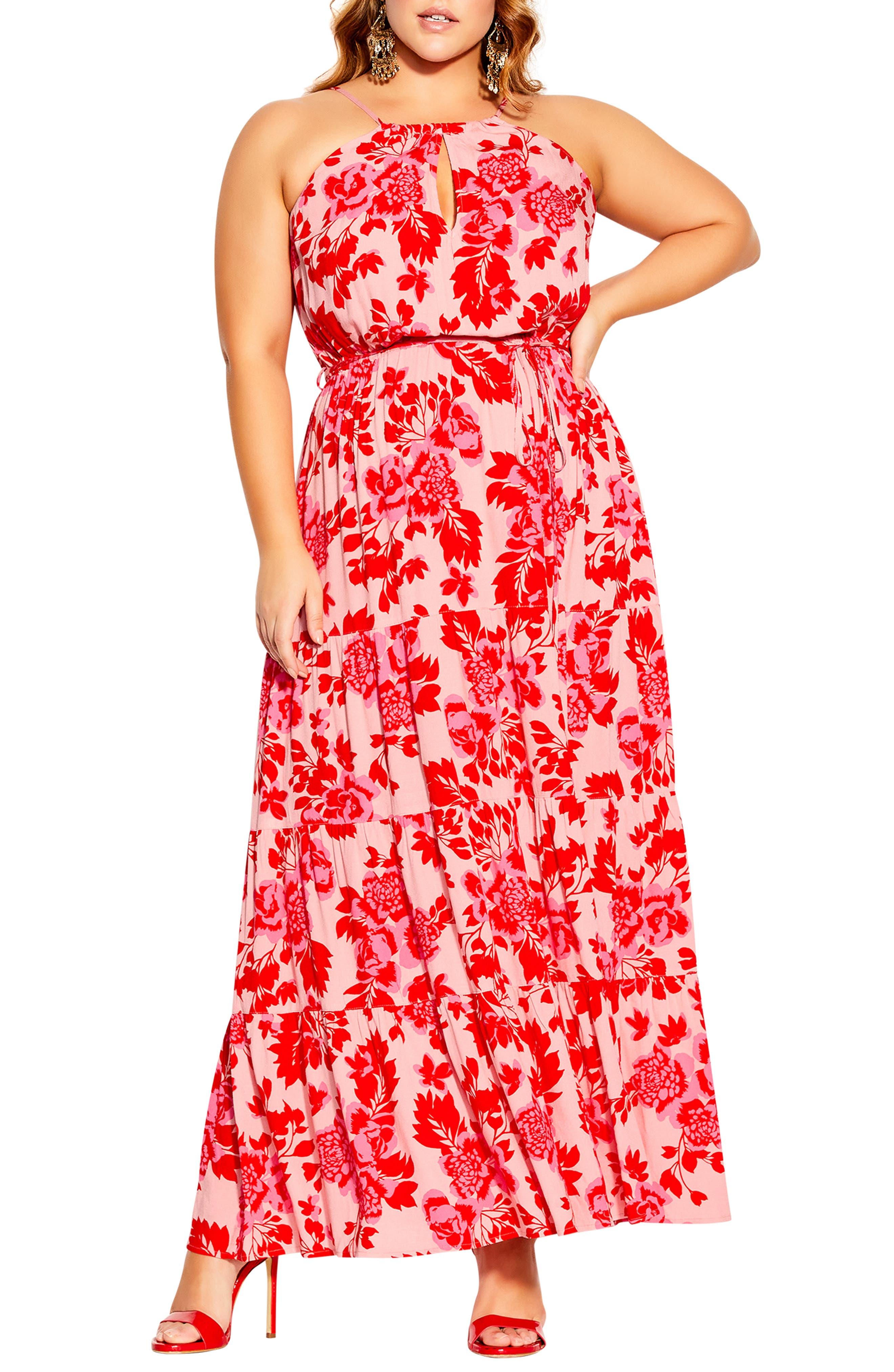 Scarlet Floral Maxi Dress