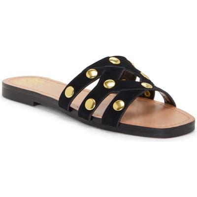 Vince Camuto Vazista Studded Slide Sandal- Black