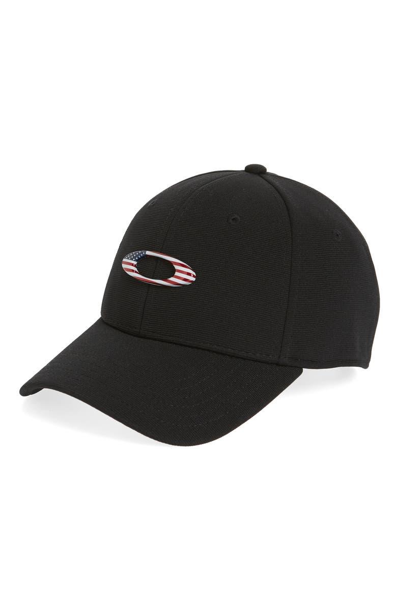 OAKLEY Tincan Ball Cap, Main, color, BLACK/ AMERICAN FLAG