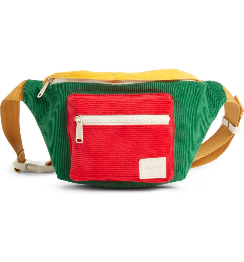 HERSCHEL SUPPLY CO. Seventeen Belt Bag, Main, color, GREEN/ BLUE/ RED/ YELLOW/ GOLD