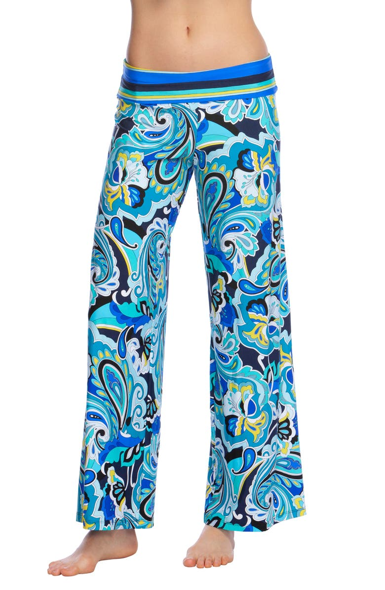 TRINA TURK Ipanema Roll Top Cover-Up Pants, Main, color, MULTI COLORED