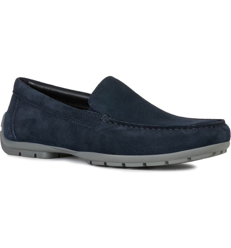 GEOX Moner 2Fit Driving Shoe, Main, color, NAVY
