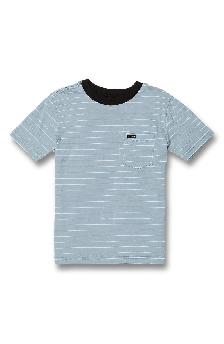 VOLCOM Storie Stripe Pocket T-Shirt, Main, color, FLIGHT BLUE
