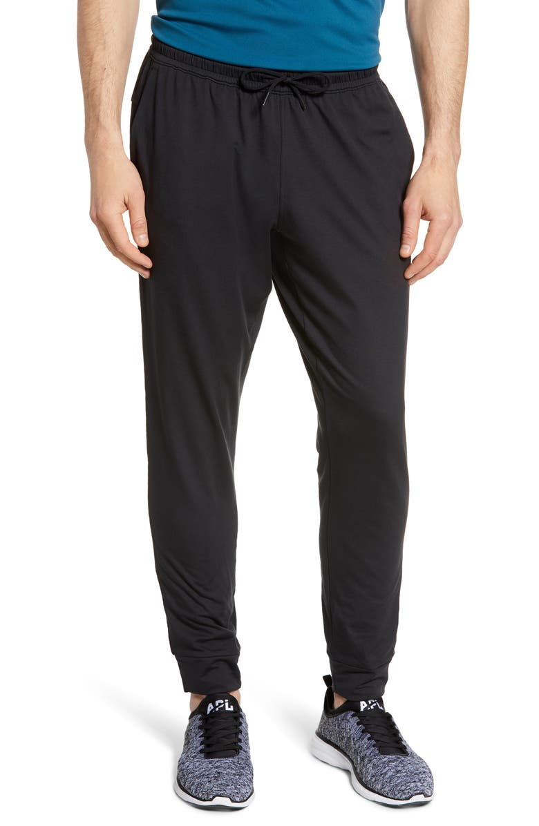 ZELLA Pyrite Slim Fit Jogger Pants, Main, color, BLACK