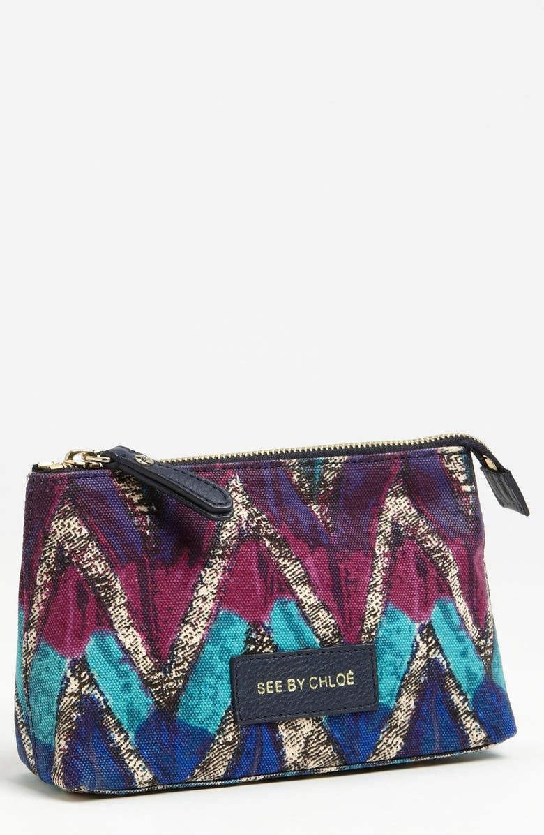 SEE BY CHLOÉ 'Agathe' Cosmetics Pouch, Main, color, 400