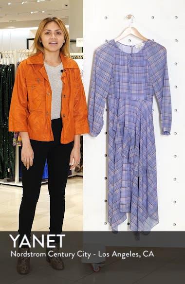 Plaid Asymmetrical Midi Dress, sales video thumbnail
