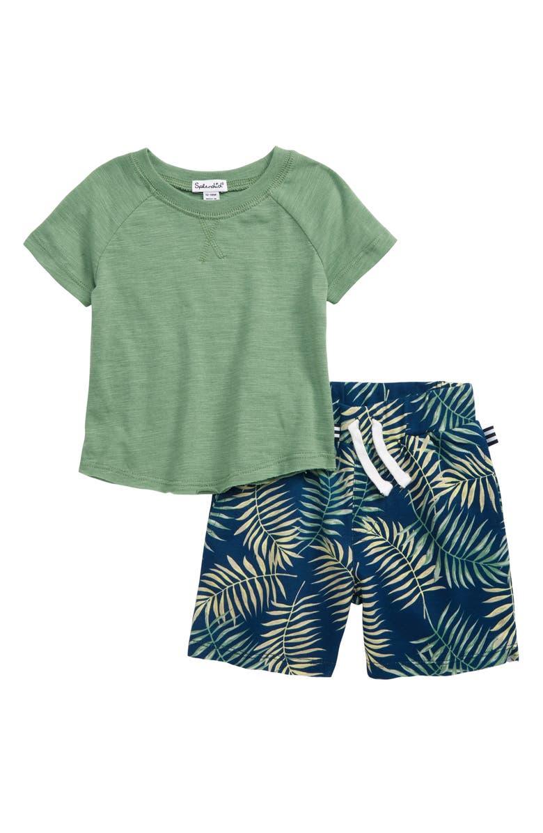 SPLENDID Palm T-Shirt & Shorts Set, Main, color, 310